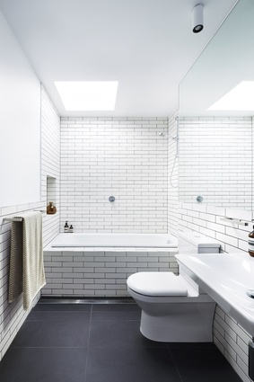 Natural light is considered in every part of each townhouse, including bathrooms.