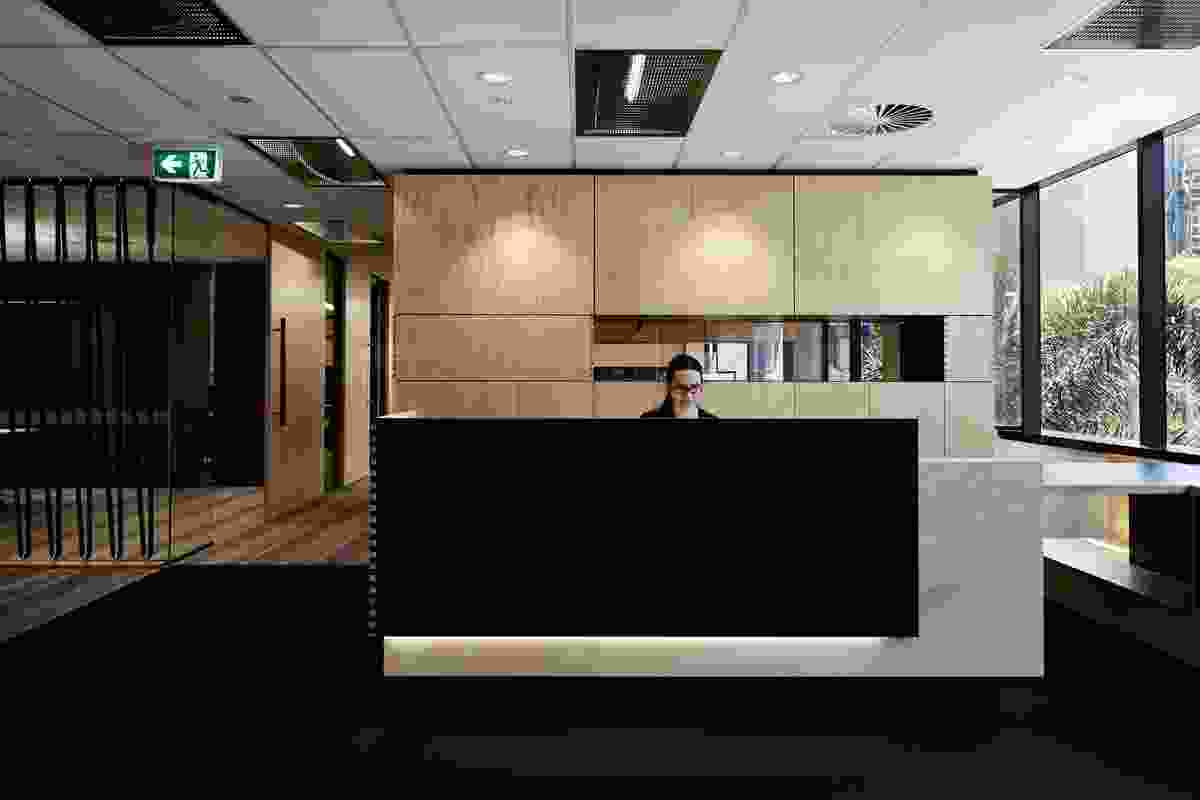 Harrison Grierson Workplace (Brisbane) by Conrad Gargett Riddel Ancher Mortlock Woolley.