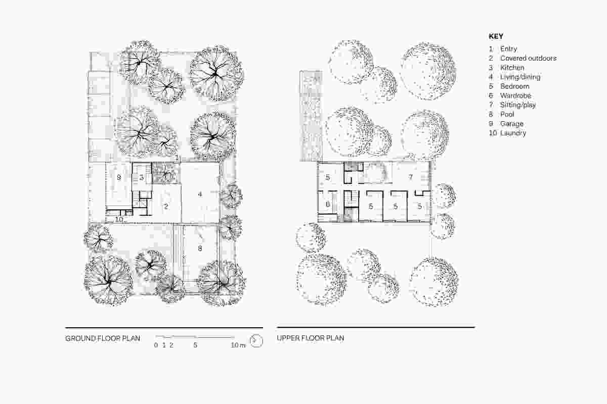 Naranga Avenue House floor plans.
