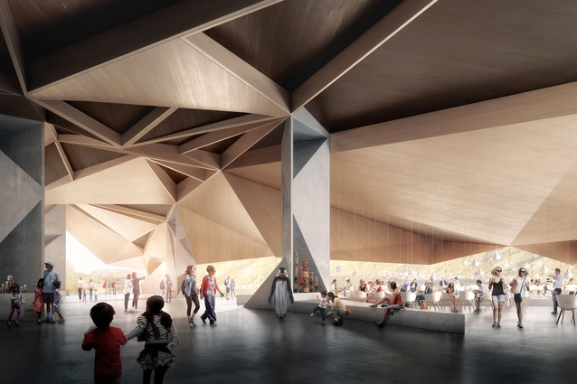 The proposed Penguin Parade Visitor Centre by Terroir.