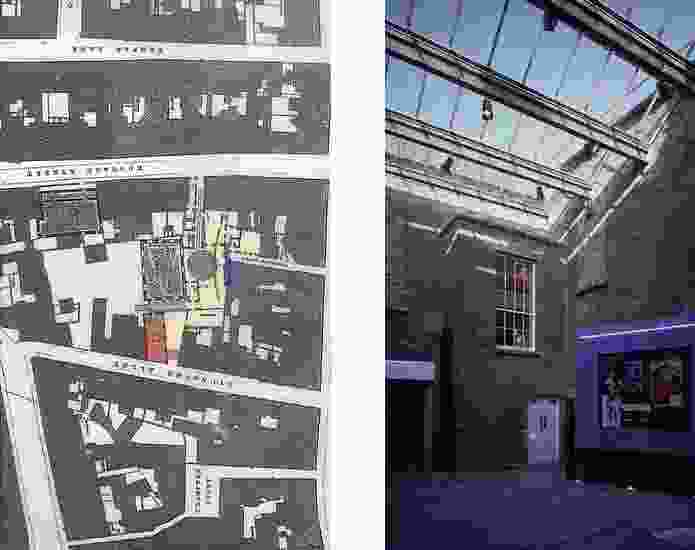 Plan of the surrounds of the Irish Film Institute 