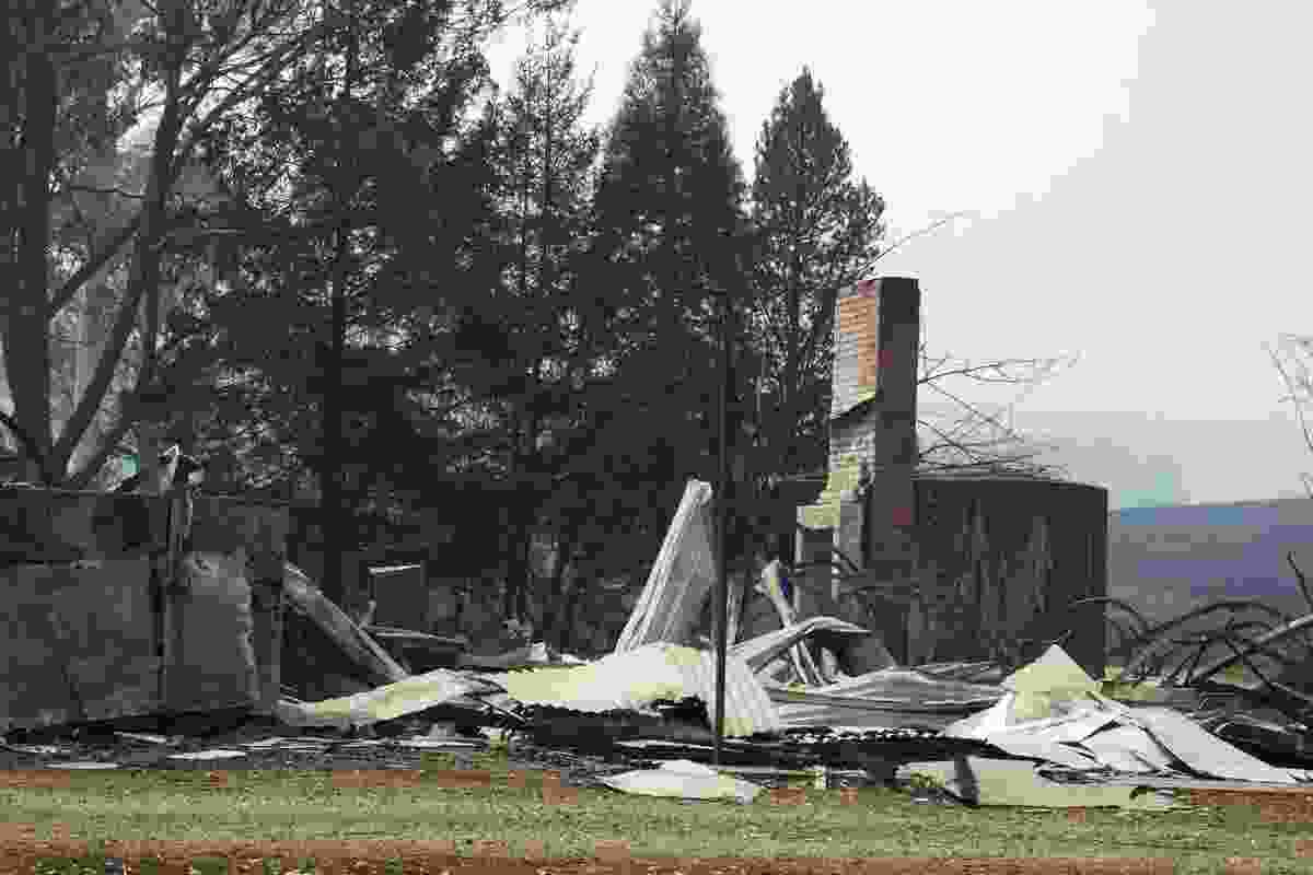 The original Narbethong Community Hall, destroyed in 2009 by the Black Saturday fires.