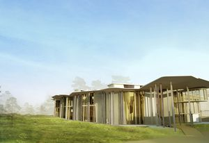 A render of the Soheil Abedian School of Architecture.