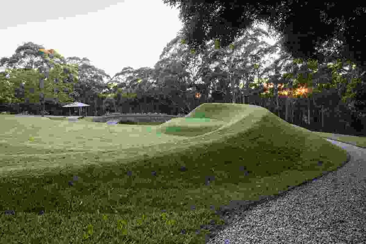 Terraforming in Michael Bates' own garden in the Blue Mountains.