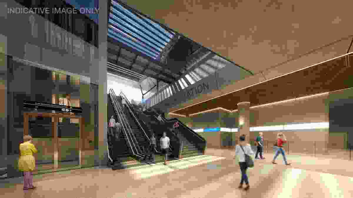 An internal view of the new Arden Station.