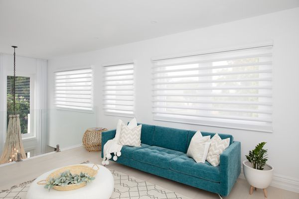 Powerview from Luxaflex allows window shades and blinds to be activated via remote control and an app.