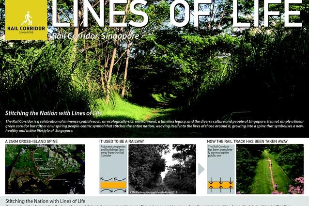Lines of Line | Rail Corridor Master Plan, Singapore by Nikken Sekkei Ltd, Singapore.