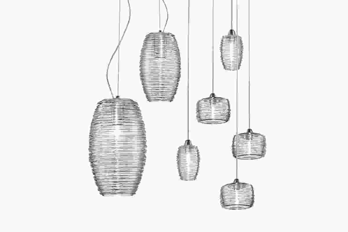 Vistosi Damasco lead-free crystal pendant.