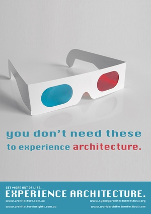 Second prize – <em>You Don't Need These to Experience Architecture</em> by Liquid Architecture.
