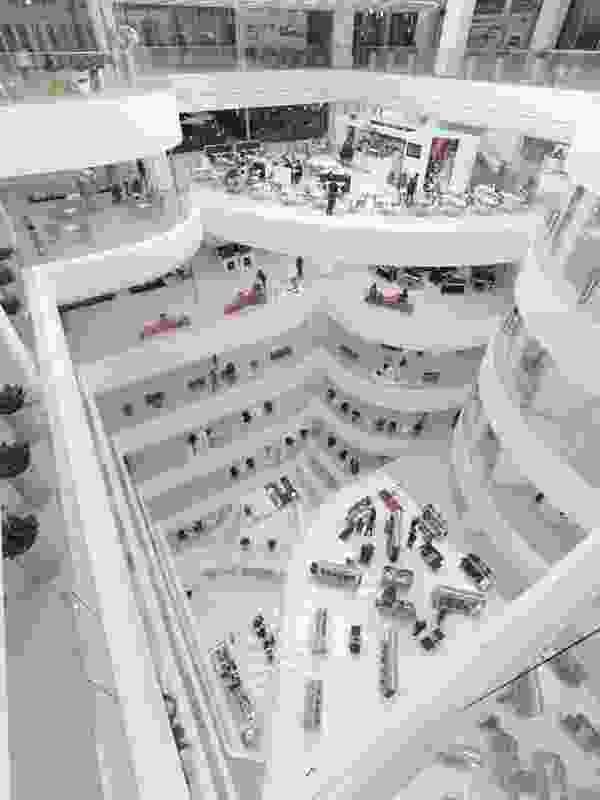 Inside the Galleria Centercity in Cheonan, Korea.