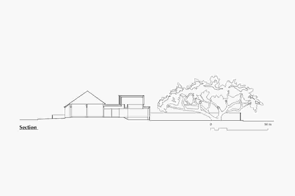 Section of Jac House by Panov Scott