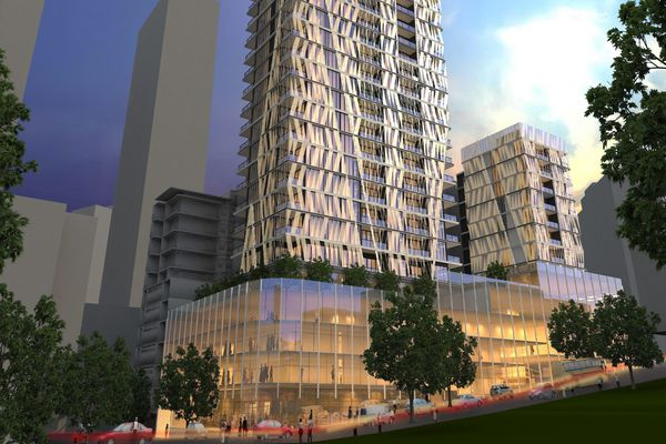 A reference design for the 2 O'Connell Street tower prepared by PTI Architecture and Interiors.