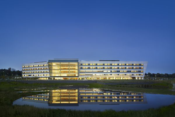 The Einstein Medial Center Montgomery in East Norriton Pennsylvania, designed by Perkins+Will.