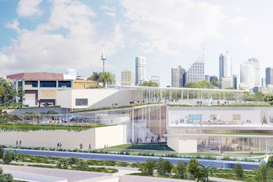 The proposed Sydney Modern expansion project for the Art Gallery of NSW by SANAA.