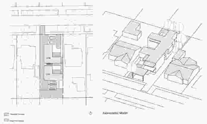 Modelling for maisonette-style dwellings by Bernard Seebar Architects.