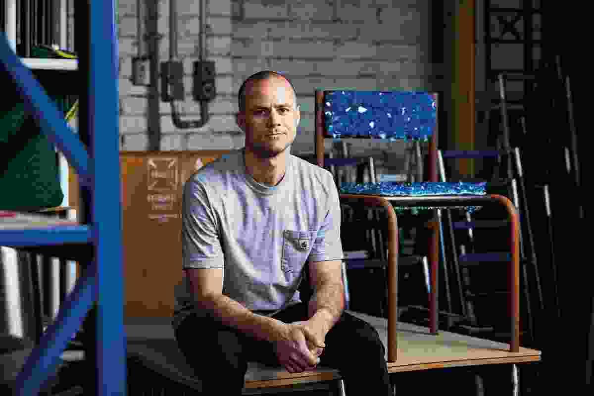 艾略特·巴斯蒂安在堪培拉的工作室里。