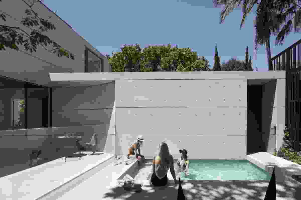 The finely detailed off-form concrete walls are expressed both externally and internally.