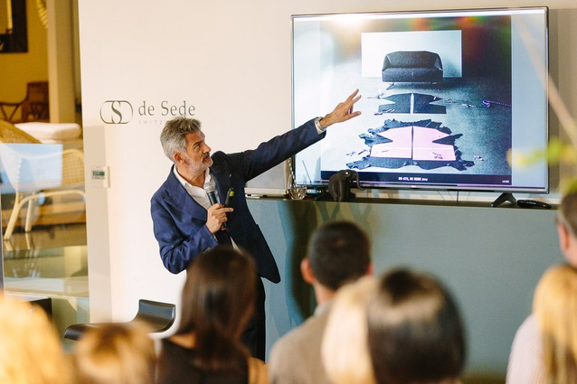 Alfredo Häberli shared highlights from his diverse portfolio of work, including furniture for de Sede, at the Domo showroom in Sandringham.