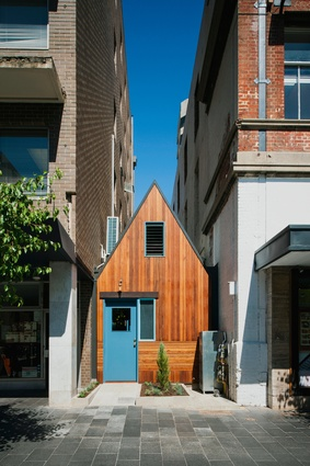 The Pink Moon Saloon bar and eatery cleverly occupies a former alleyway in Adelaide's West End. From Leigh Street the building's street facade is unexpected and the sense of surprise is continued throughout.