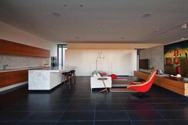 Informal living space. Artwork: Melissa Egan.
