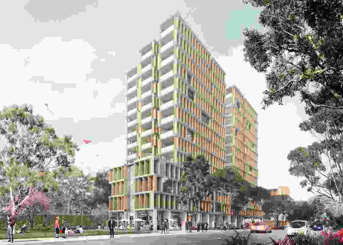 An aged care facility designed by Candalepas Associates in the Ivanhoe Estate redevelopment.