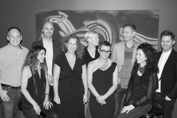 The 2014 AIDA jury (L-R): Paul Kelly, Susanna Bilardo, Hamish Guthrie, Joanne Cys (jury convenor), Geraldine Maher, Victoria Judge, Matthew Blain, Christina Waterson and Ryan Russell. Not pictured is jury sustainability advisor, John Gertsakis.