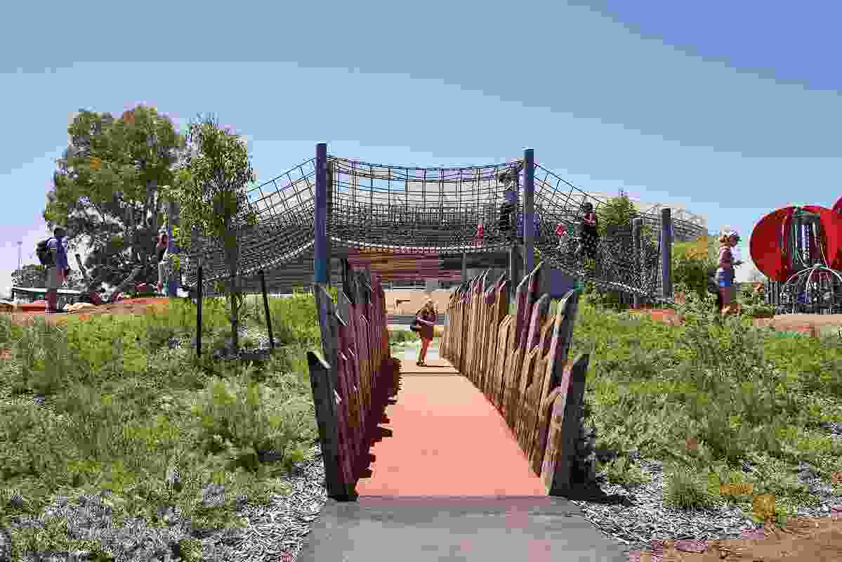 The playground references the six Noongar seasons through materiality and planting, with stories and learning opportunities embedded throughout.