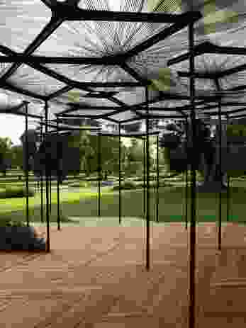 The 2015 MPavilion by AL_A (Amanda Levete), conceived as a figurative tree canopy.