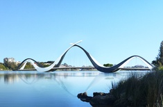 'Sinuous,' 'slender' Perth footbridge to be constructed locally after offshore delays
