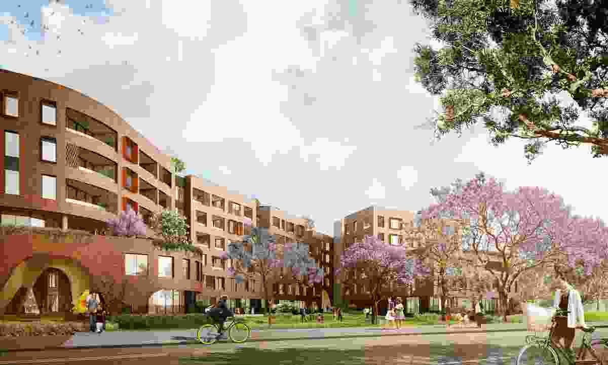 Arkadia, Sydney, designed by Breathe Architecture and DKO Architecture. DKO's principal Koos de Keijzer is presenting the project alongside client Pedro Pan, development manager of Defence Housing Australia.
