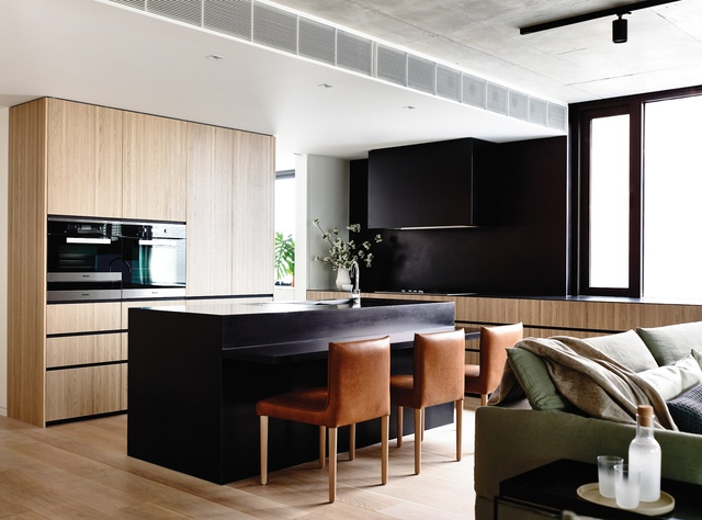 Flat out rethinking walsh street apartment architectureau for Firm design