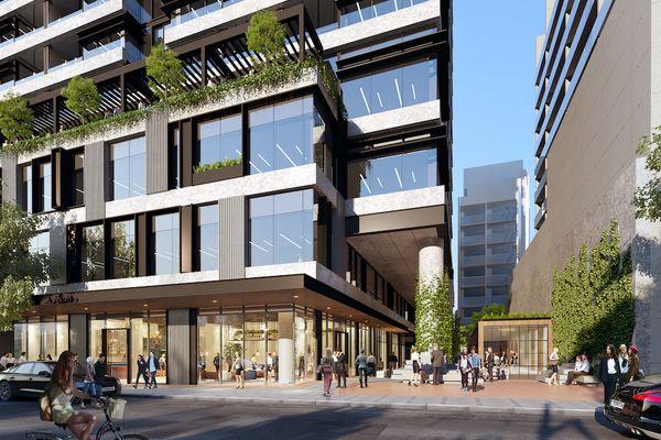 Fender Katsalidis开发的South Yarra建筑租赁项目。