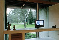 A short film playing in the Heide II study, newly