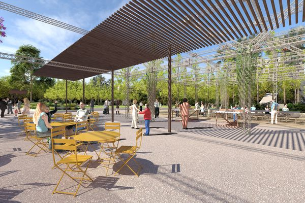 A winter garden in the proposed University Square redevelopment.