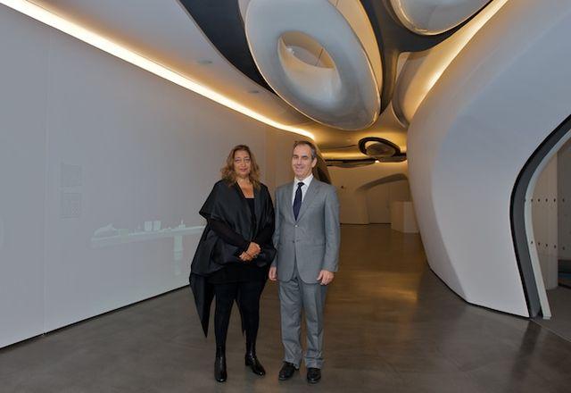 Zaha Hadid opens Roca London Gallery.