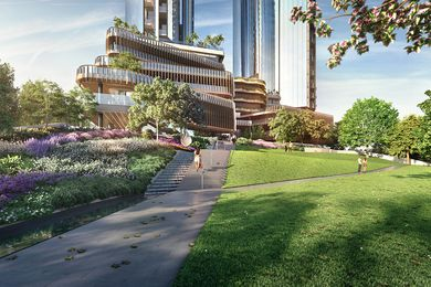 Melbourne Square public park by Taylor Cullity Lethlean.
