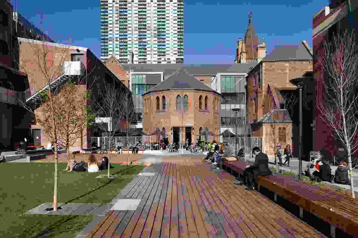 RMIT University Lawn by Peter Elliot Architects.