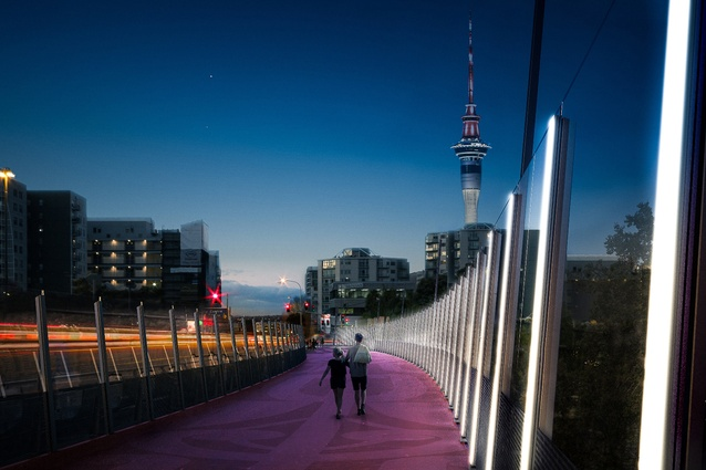A render of the north section of the Nelson Street cycleway.