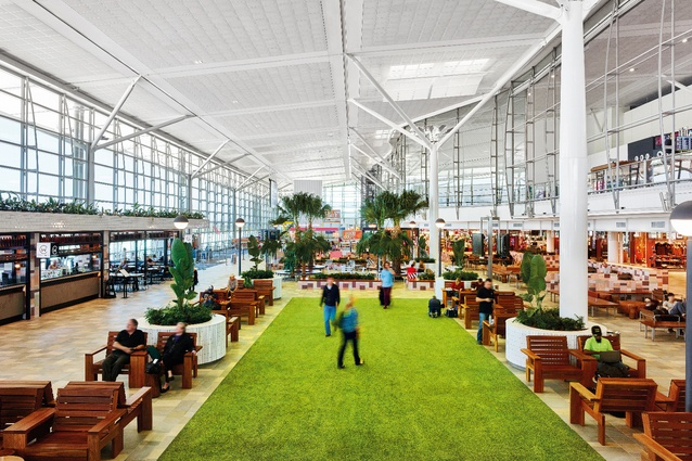 The commercial space upgrade at the Brisbane Airport international terminal by Richards and Spence in collaboration with Arkhefield.