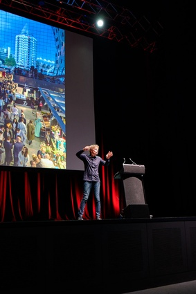 Winy Maas, MVRDV, presenting at the 2017 National Architecture Conference.