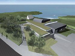 The winning design for a community centre at Prince Henry at Little Bay by Lahz Nimmo and Grindley Constructions.