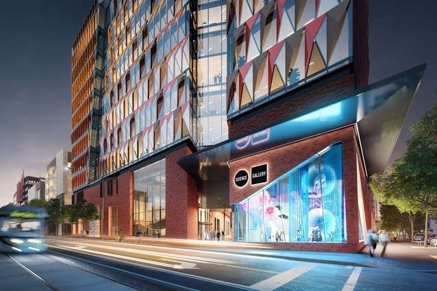 Indicative render of the science gallery in the Carlton Connect innovation precinct to be designed by Woods Bagot.