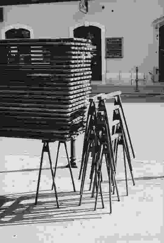 Marketplace tables, Ljubljana, 2006.