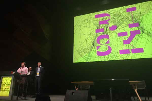 The Risk 2015 Australian Institute of Architects National Conference directors: Andrew Mackenzie (left), Donald Bates (centre), Hamish Lyon (right).
