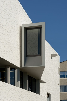 Small apertures and angles peel outwards, reminding of its function as an observatory.