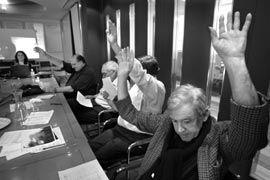 The rejudging process. Photograph John Gollings.