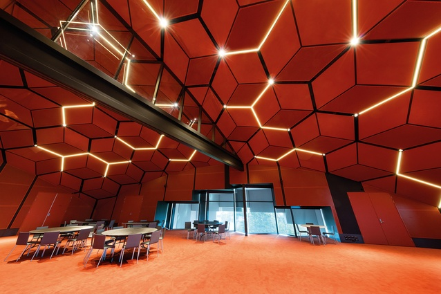 The function room on the top floor of the Geelong Library and Heritage Centre alludes to the domed form of the building.