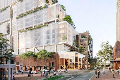 乌鸦巢地铁站开发概念设计由Woods Bagot和乌鸦巢设计联盟设计。