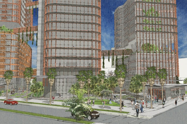 Proposed CDU city campus by Hames Sharley.