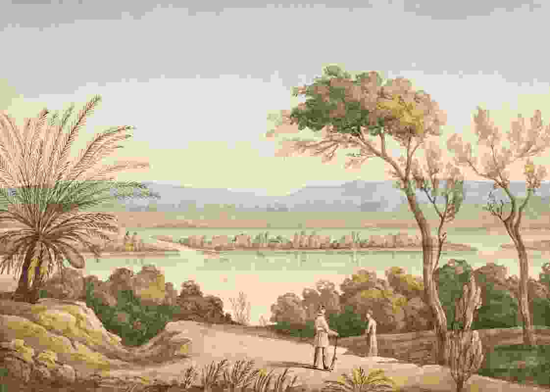 This painting from 1827 is reflective of how Perth was idealized in its beginnings, where descriptions of Swan River were inaccurate and topographical features dramatized.